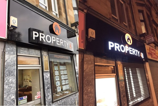curved light box, curved sign glasgow, glasgow curved signs