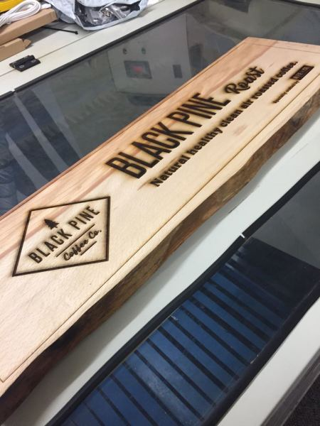 engraved signs, wood signs glasgow, wood engraving glasgow, burnt wood effect