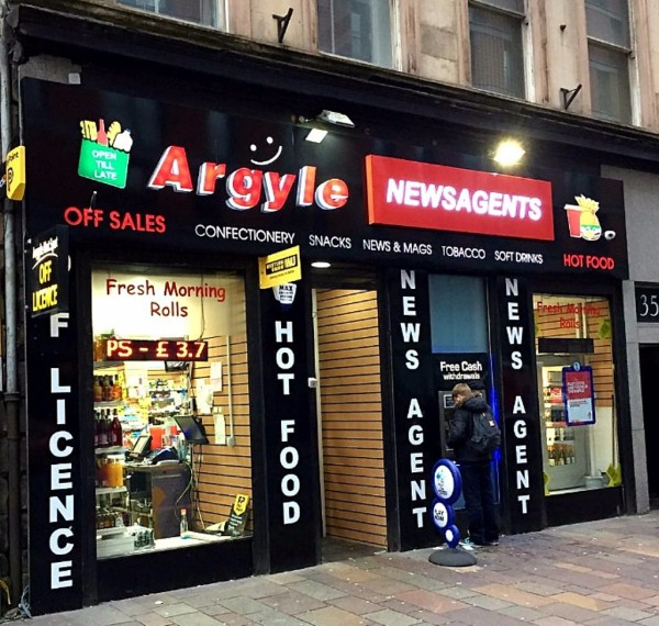 glasgow tray signs, illuminated sign trays glasgow, glasgow light boxes, shop signs glasgow