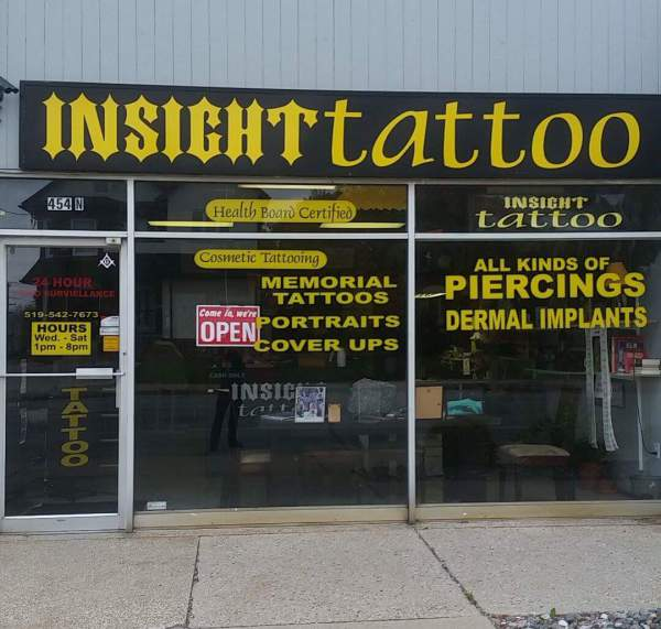 Store front tattoo
