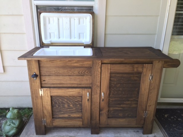 Outdoor Cooler with Cabinets