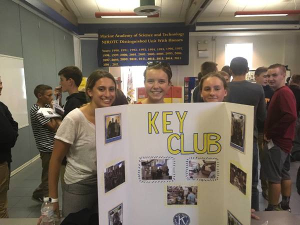Officers present for Key Club on Club Day!