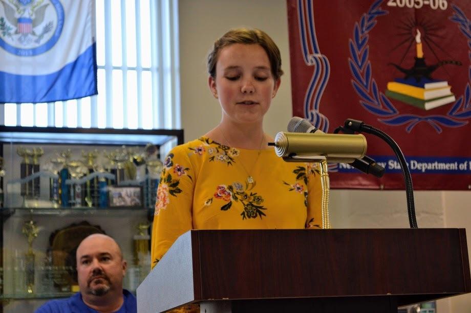New president Carlee speaks to members