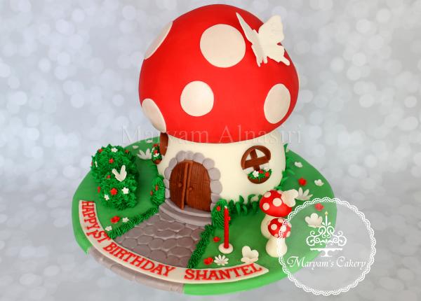 3D toadstool cake