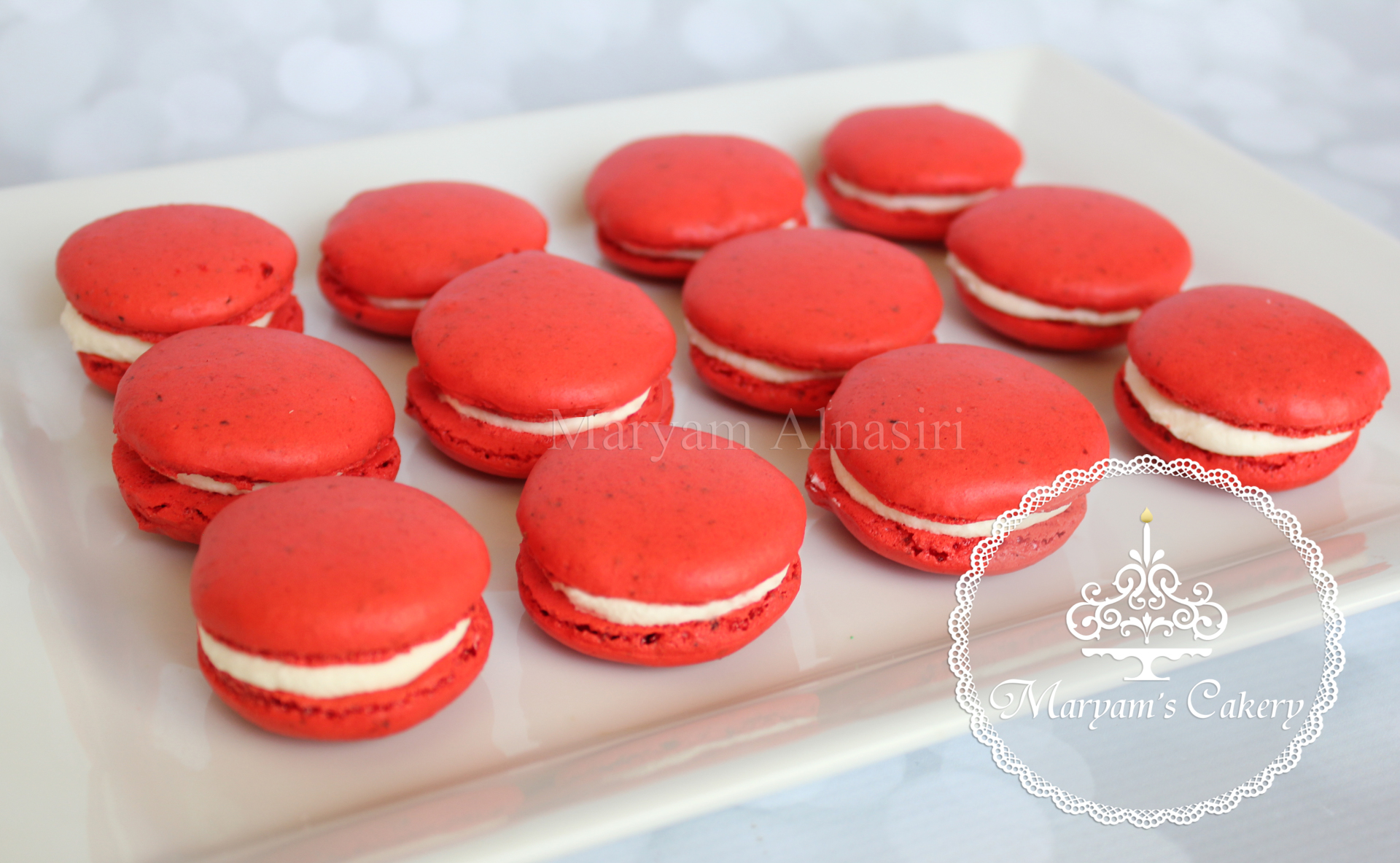 white chocolate raspberry  french macaron