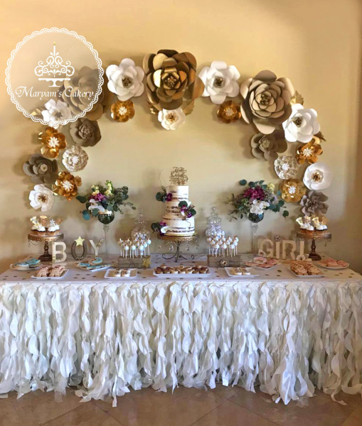 rustic gender reveal theme & baby shower