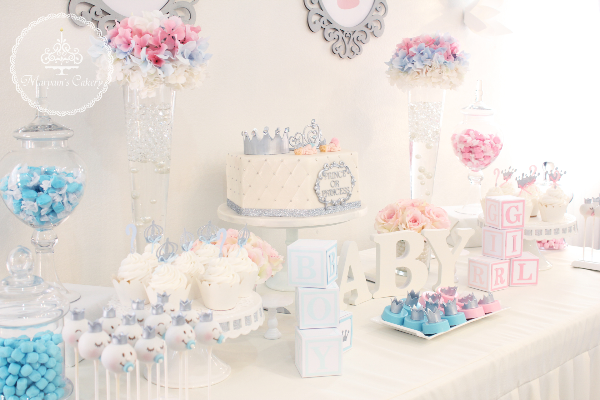 Adorable gender reveal party
