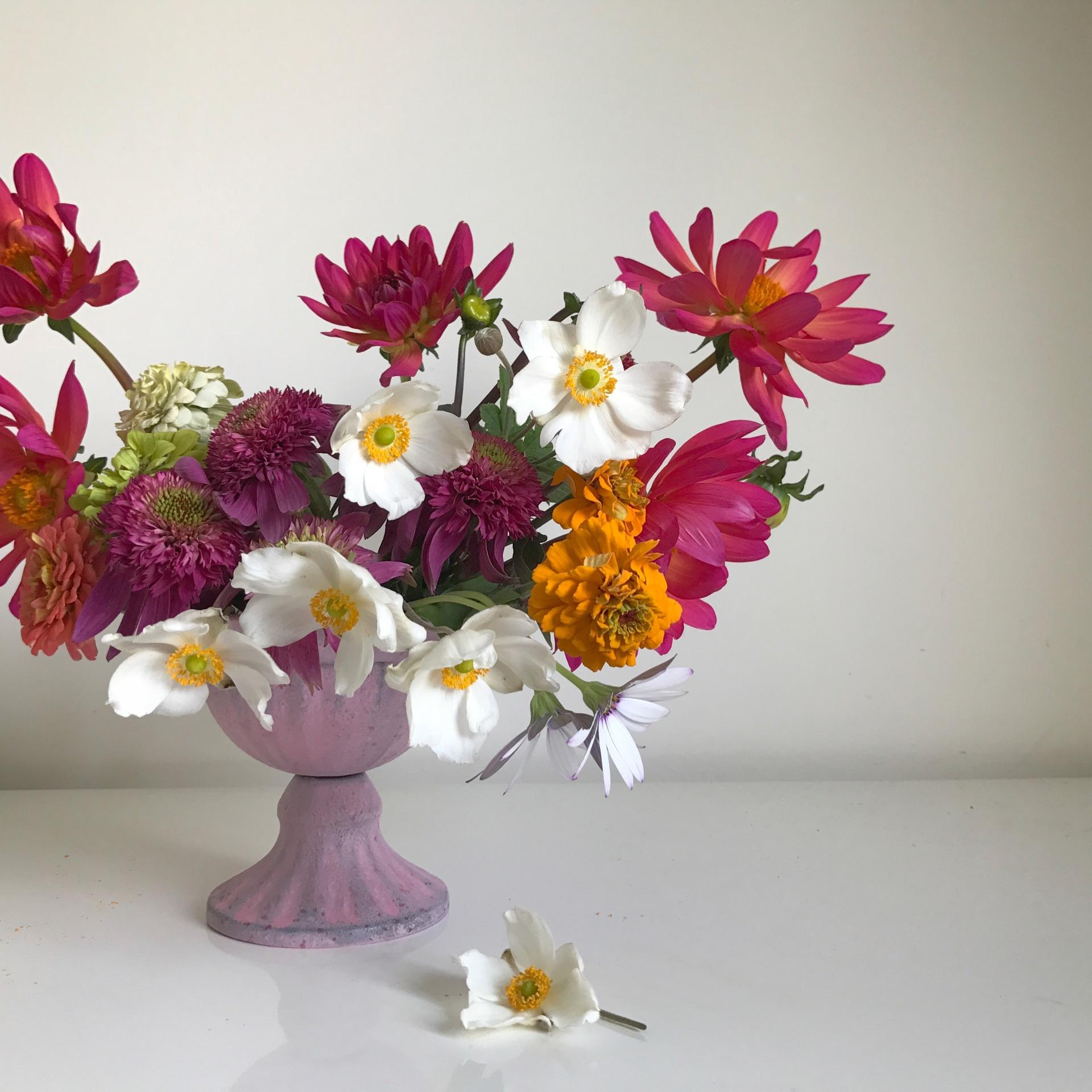 Table centre | creative wedding | bright wedding | London wedding | london florist | quirky wedding