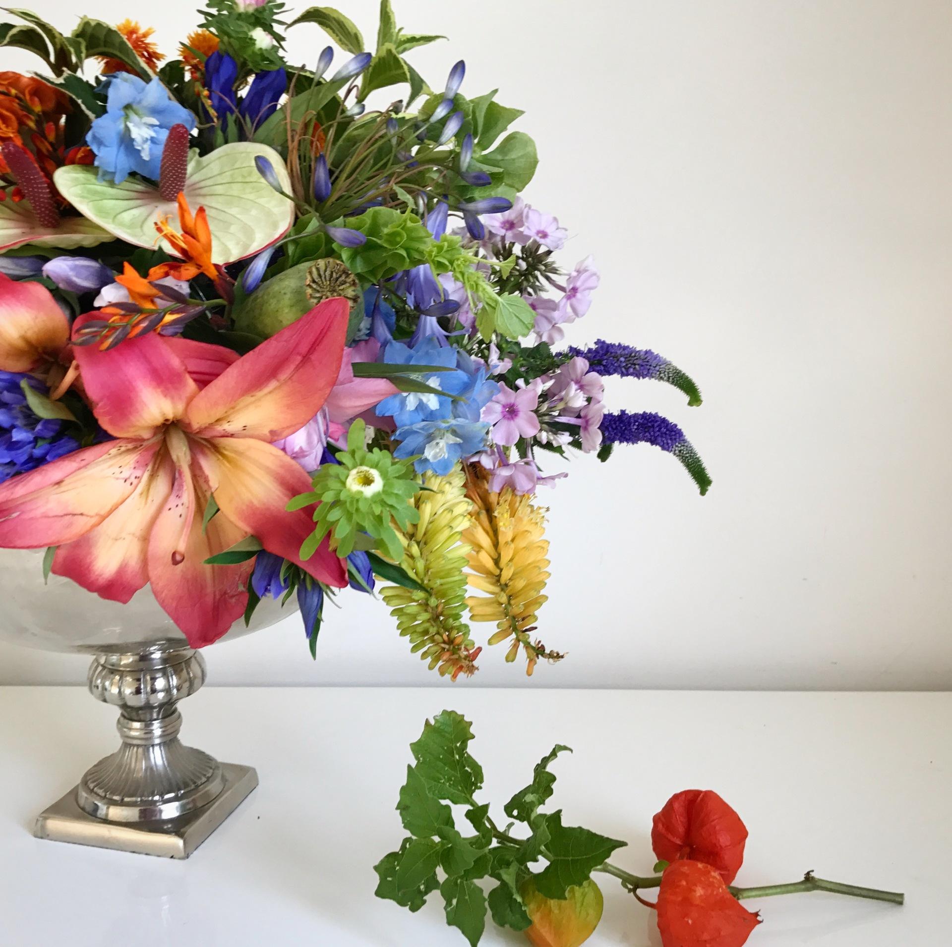 London florist | wedding florist | colourful wedding | gay wedding decor | rainbow wedding |