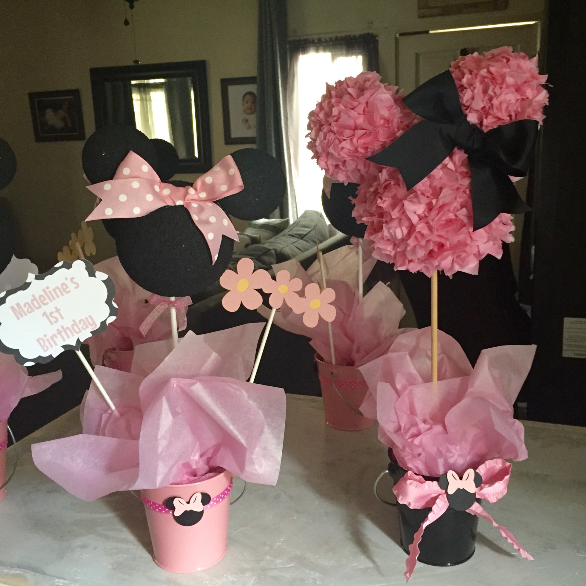 Minnie Mouse Centerpieces