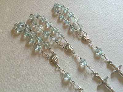 Mini Rosaries, First communion party favors, Christening Party Favors, Baptism Party Favors