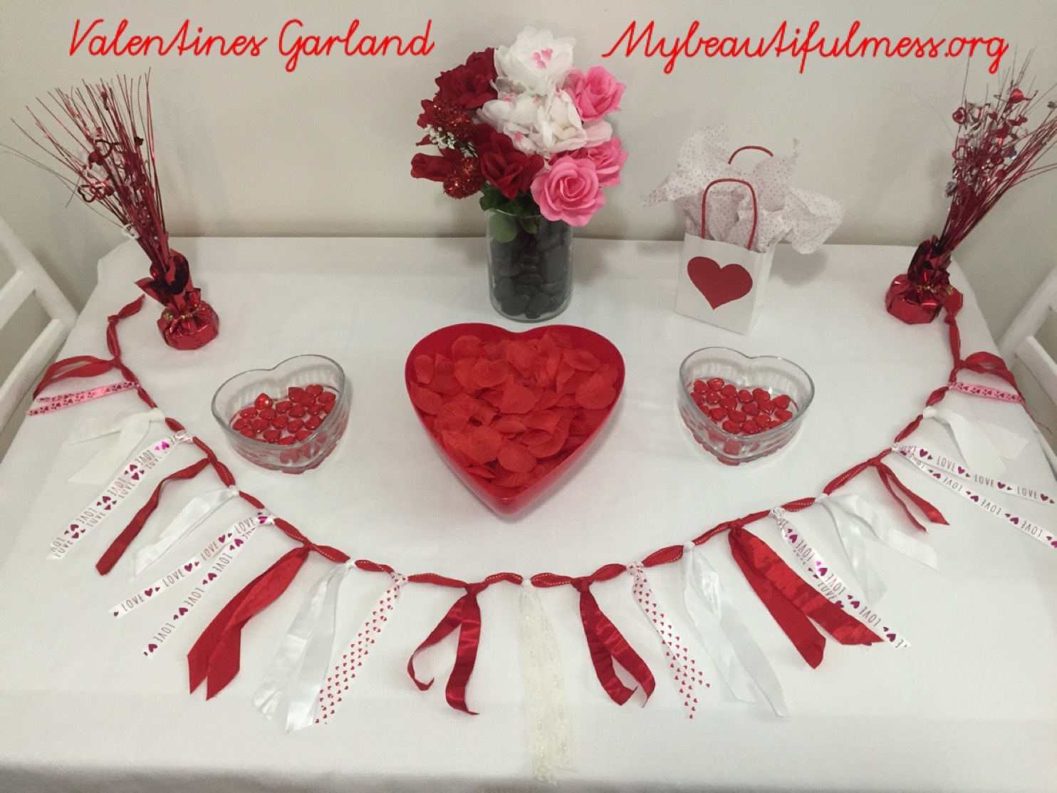 Valentines Ribbon Garland