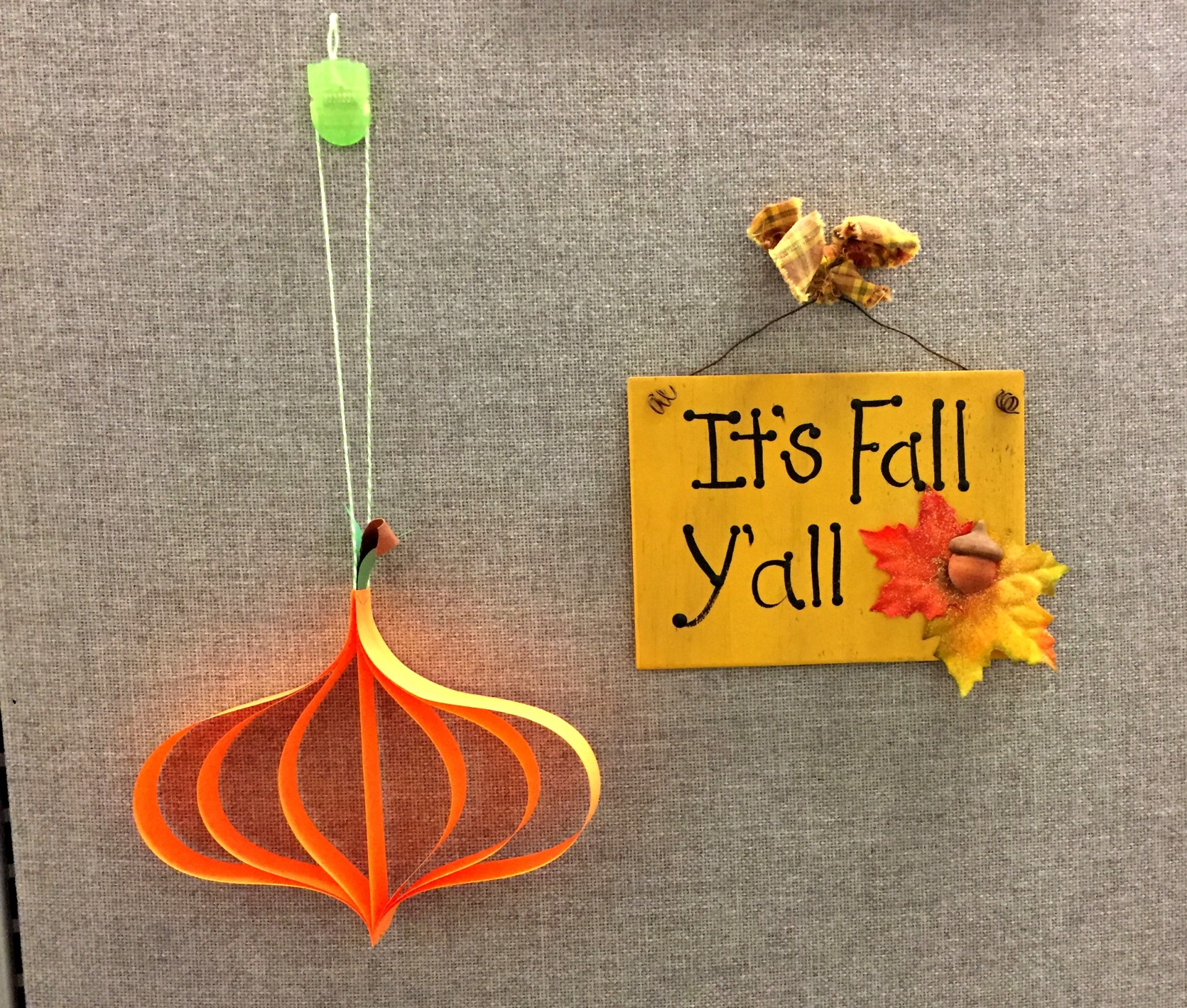 My Beautiful Mess - Hanging Pumpkin Decoration