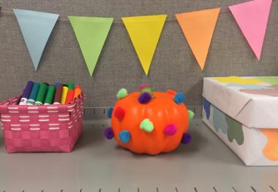 My Beautiful Mess - Pom Pom Pumpkin - No Carve Pumpkin Week