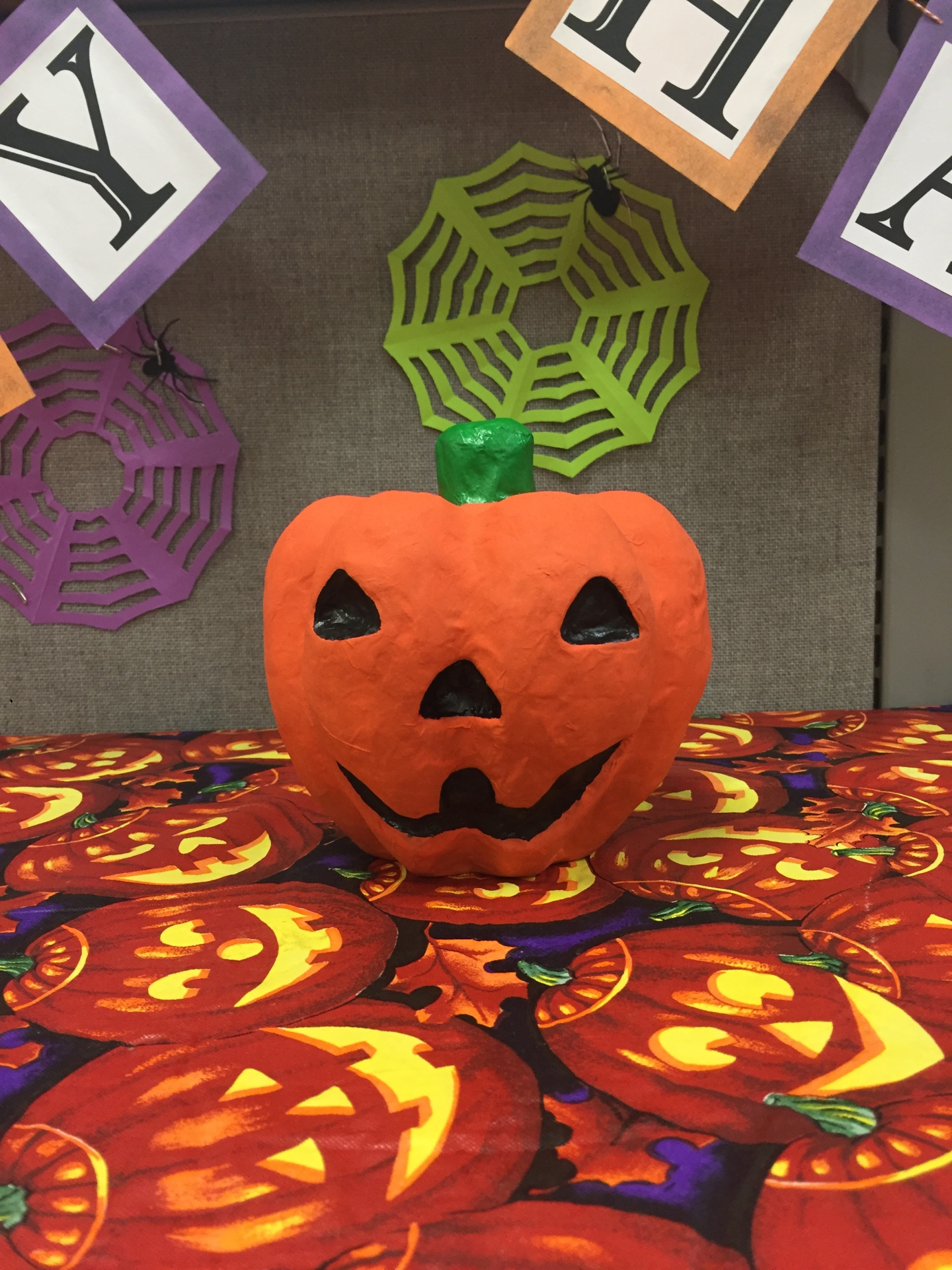 My Beautiful Mess - Paper Mache Jack o Lantern - No Carve Pumpkin Week