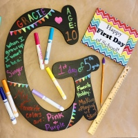 My Beautiful Mess- Back to School Photo Prop Letter