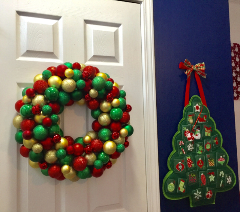 My Beautiful Mess - Red & Green Christmas Ornament Wreath