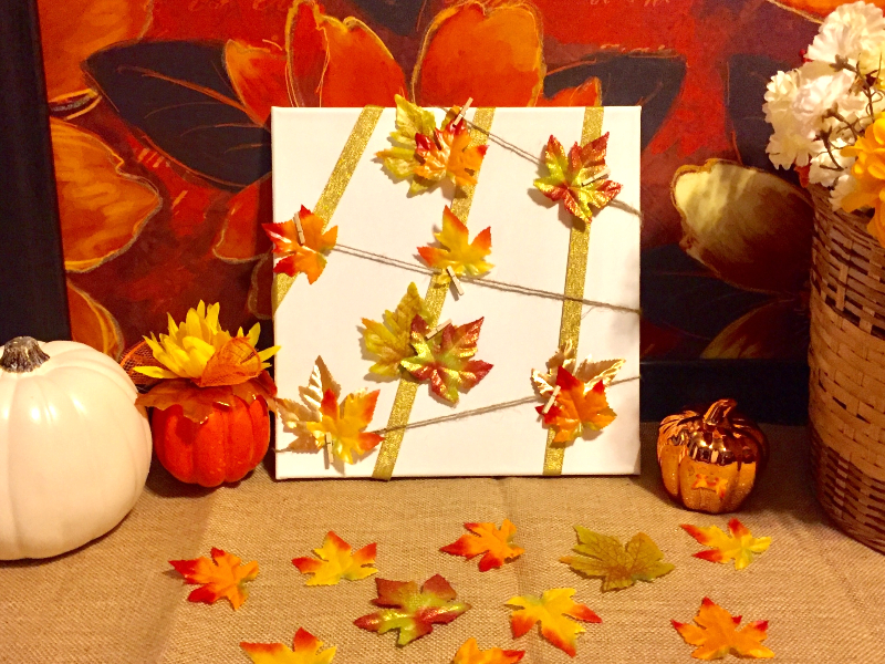 Decorating with Leaves - Wrapped Canvas