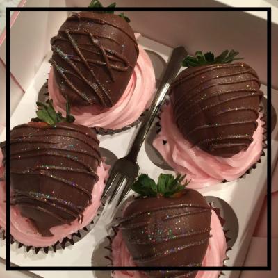 Pink Kiss Cupcake