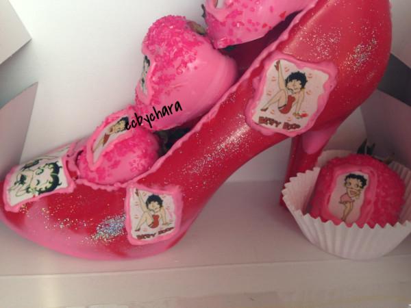 Betty Bop Chocolate Shoe
