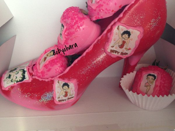 Betty Bop Chocolate Shoe