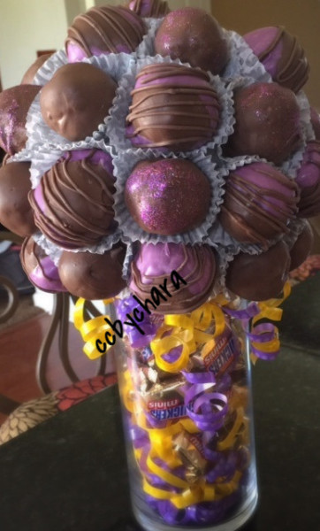 Chocolate Covered Cake Ball Bouquet