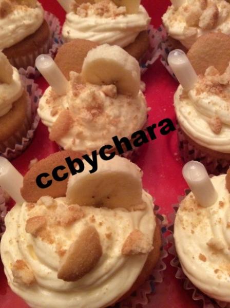 White Chocolate Banana Pudding Cupcake
