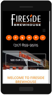 Fireside Brewhouse Mobile Website