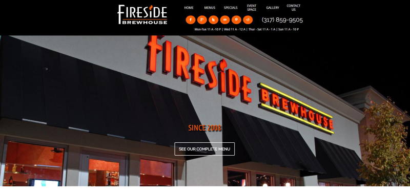 Fireside Brewhouse Website