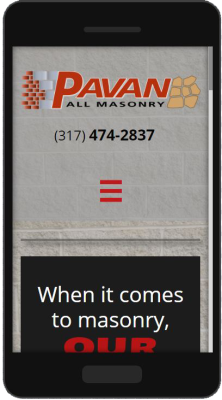 Pavan All Masonry Mobile Website