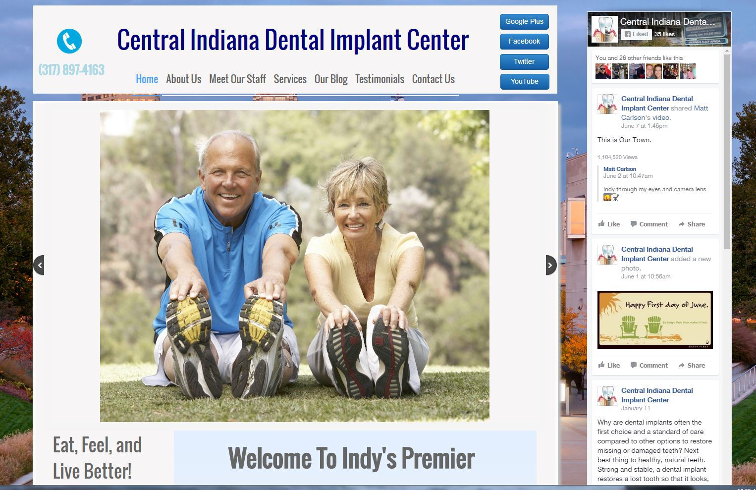 Central Indiana Dental Implant Center Website