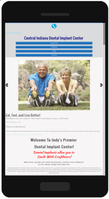 Central Indiana Dental Implant Center Mobile Website