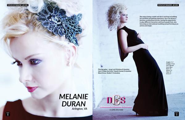 Published Model TopCatLive Magazine Melanie D.