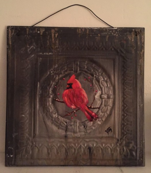 Cardinal Tin Tile