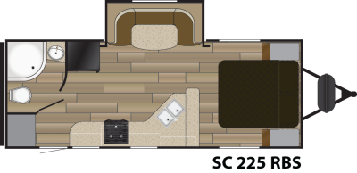 2016 Shadow Cruiser 225RBS Floor Plan