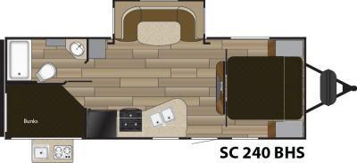 2016 Shadow Cruiser 240BHS Floor Plans