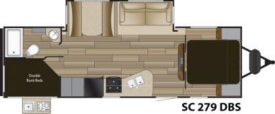 2016 Shadow Cruiser 279DBS Floor Plan