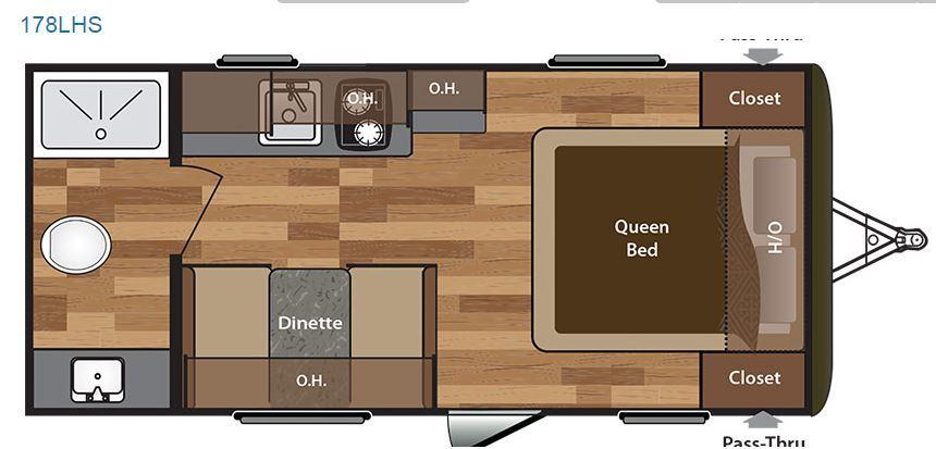 2015 KEYSTONE HIDEOUT 178LHS Floor Plan