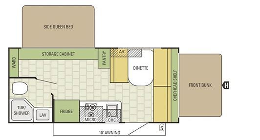 2016 STARCRAFT LAUNCH 17SB Floor Plan