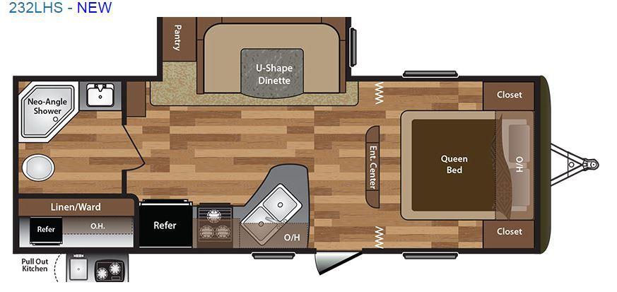 2016 Keystone Hideout 232LHS Floor Plan