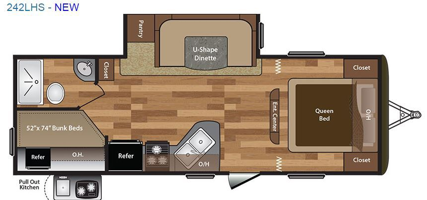 2016 Keystone Hideout 242LHS Travel Trailer