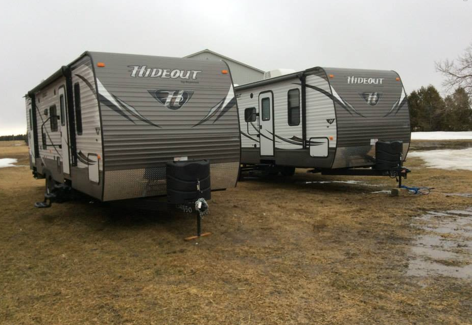 Trailers at the yard