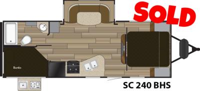 2016 Shadow Cruiser 240BHS Travel Trailer