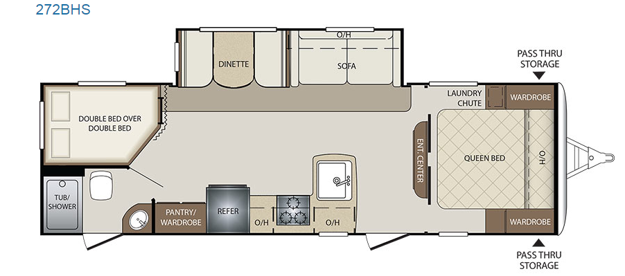 2017 Keystone Bullet 272BHS - Floor Plan