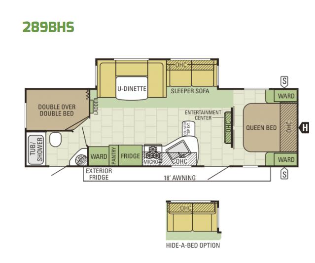 2017 Starcraft Autumn Ridge 289BHS - Floor Plan