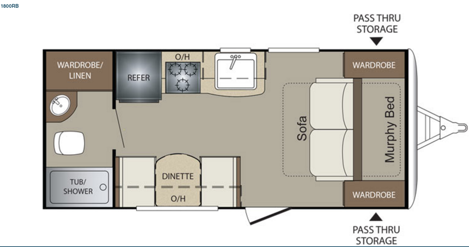 2017 Keystone Bullet Crossfire 1800RB- Floor Plan