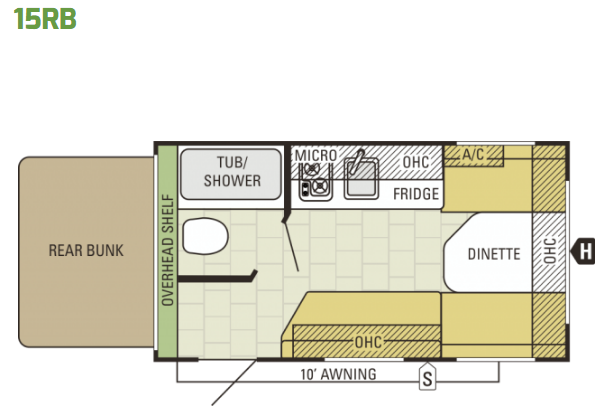 2015 Starcraft AR-ONE 15RB - Floor Plan