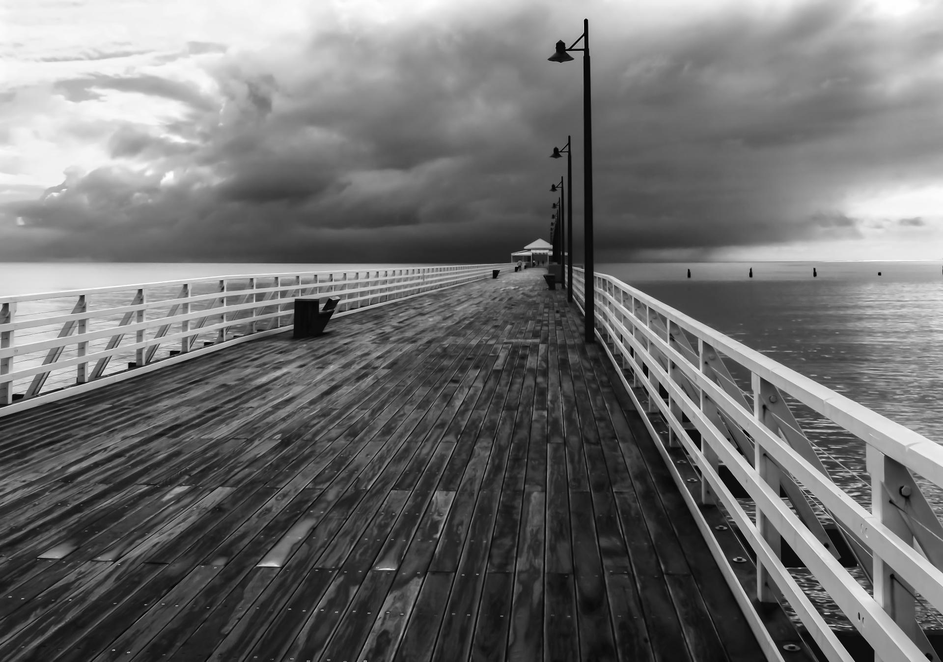 ...along the pier.