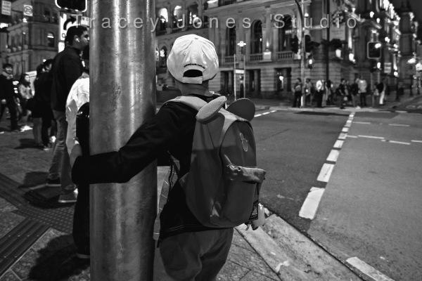 ...little boy...big city.