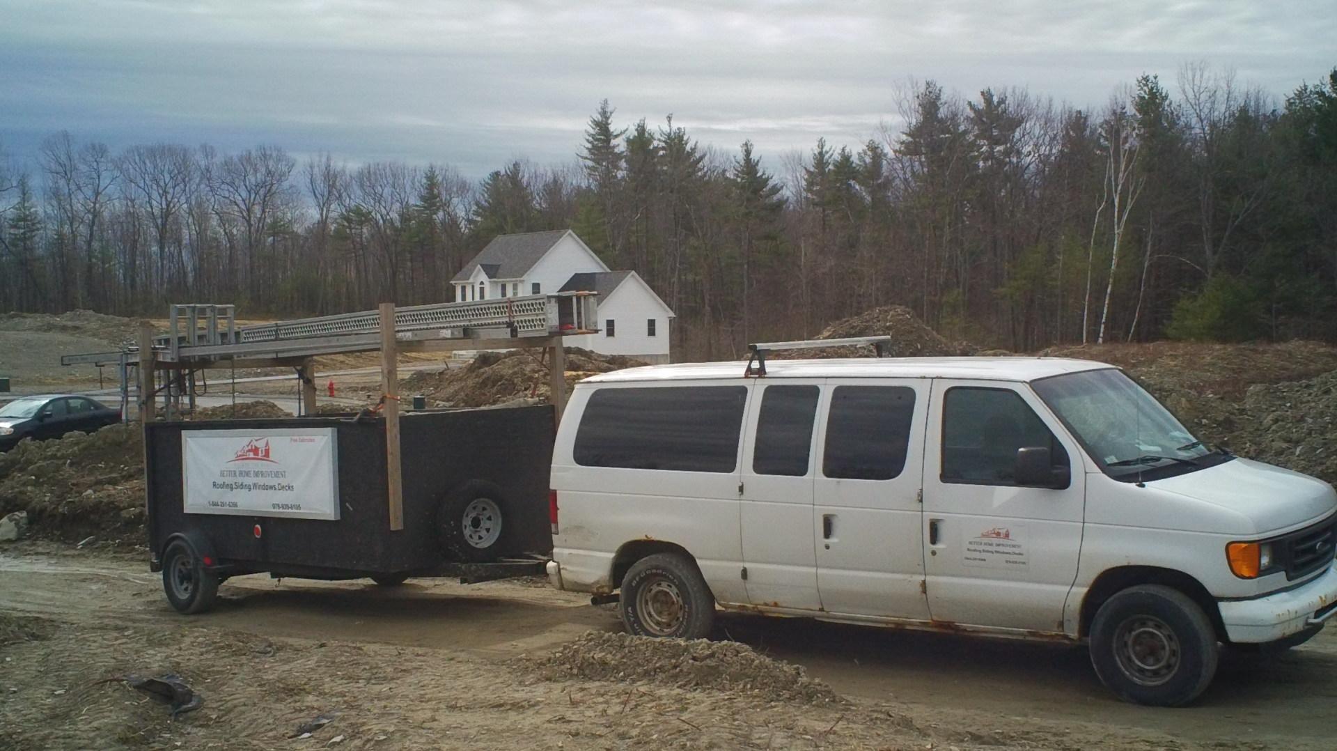 Work Van and Trailer